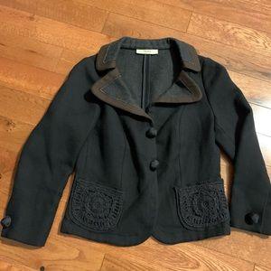 $bogo$ Prada women's blazer coat 44 medium blue